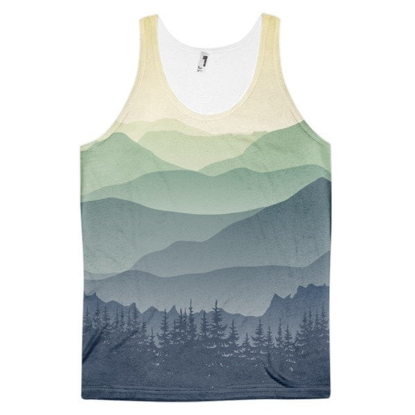 All over print - Mountain fog Classic fit men's tank top - Hutsylife - 1