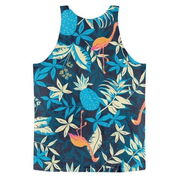 All over print - Paradise flamingo Classic fit men's tank top - Hutsylife - 2