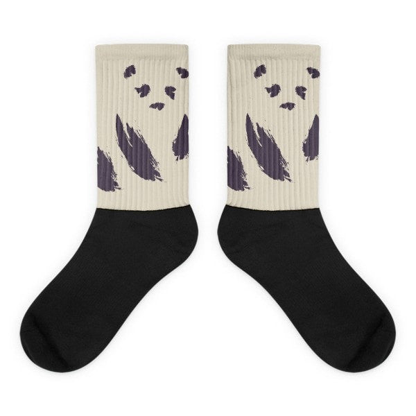Invisible Panda Black foot socks