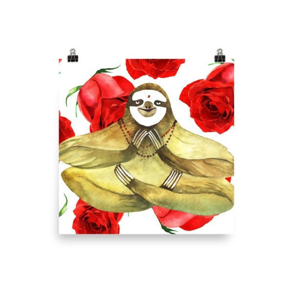 Rose sloth Poster - Hutsylife - 2