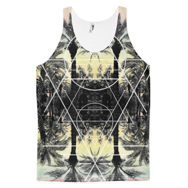 All over print - Palm Reflection Classic fit men's tank top - Hutsylife - 1