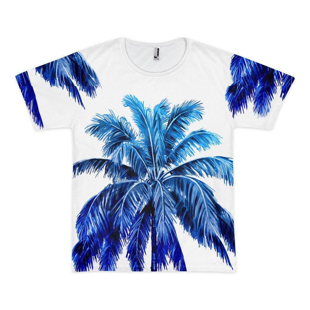 All over print - Blue palm Short sleeve men's t-shirt