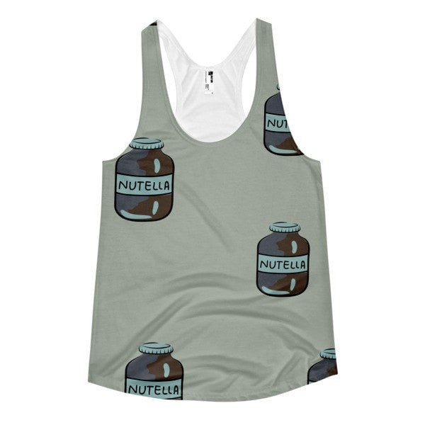All over print- Nutella Women's racerback tank - Hutsylife - 1