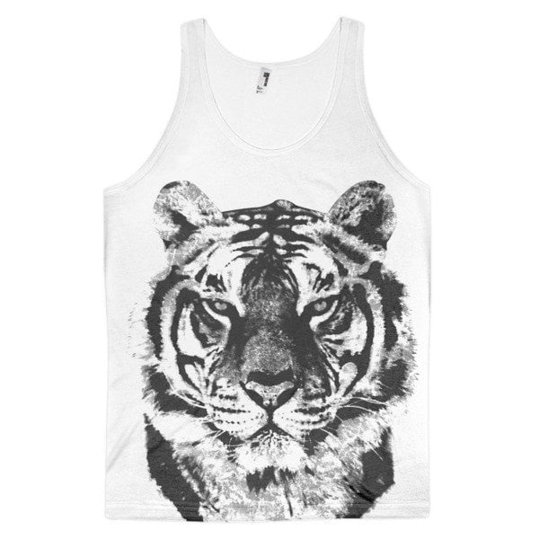 Grunge tiger Classic fit men's tank top - Hutsylife