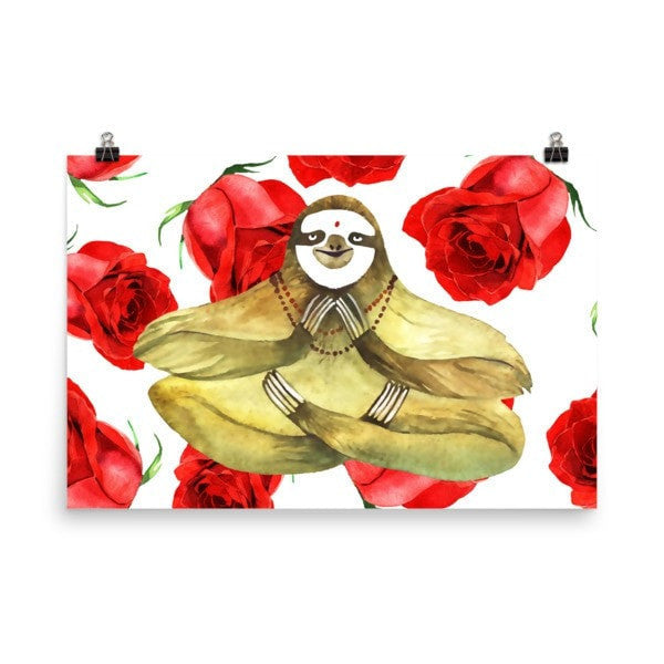 Rose sloth Poster - Hutsylife - 9
