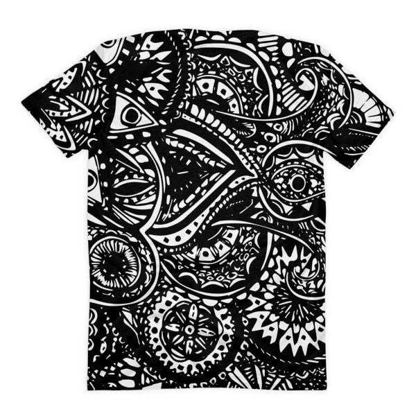 All over print - Black Veritas Women's Sublimation T-Shirt - Hutsylife - 2