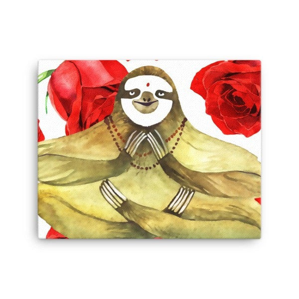Rose sloth Canvas - Hutsylife - 2