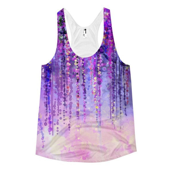 All over print - Dark purple lush Women's Racerback Tank