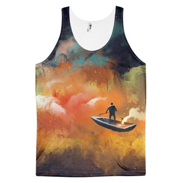 Space boat Classic fit men's tank top - Hutsylife