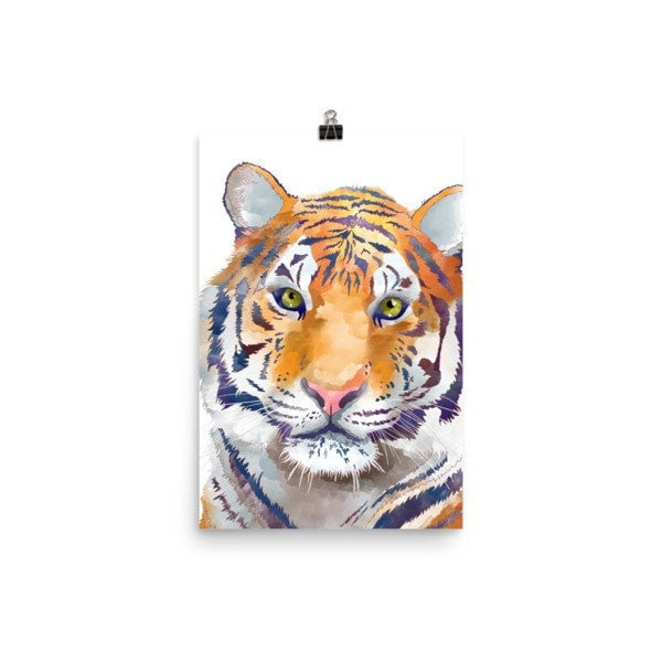 Watercolor Tiger Poster - Hutsylife - 7