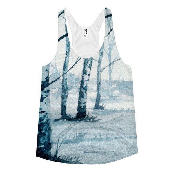 All over print - Birch trail Women's racerback tank