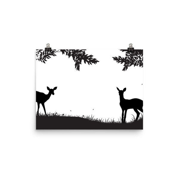 Lookout Deer Poster - Hutsylife - 1