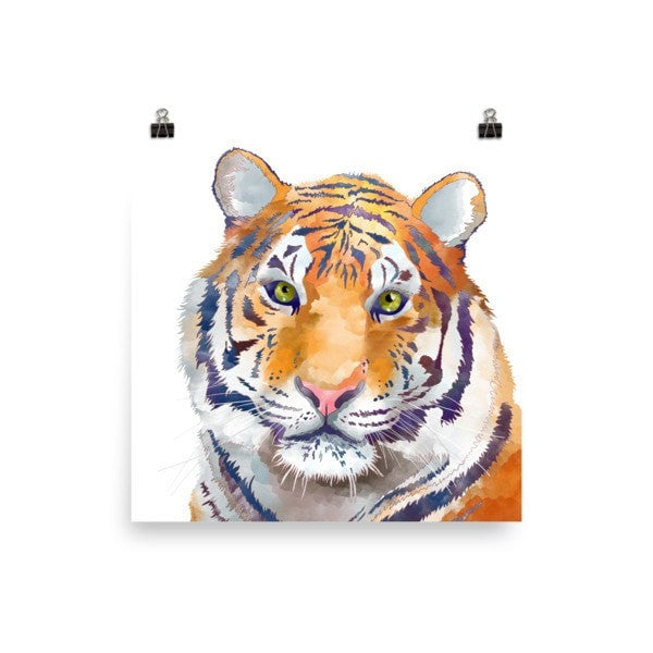 Watercolor Tiger Poster - Hutsylife - 3