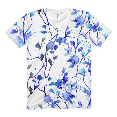 All over print - Blue vine Women's sublimation t-shirt