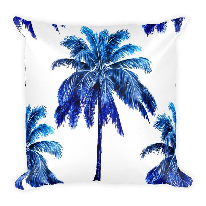 Blue palm pillowcase
