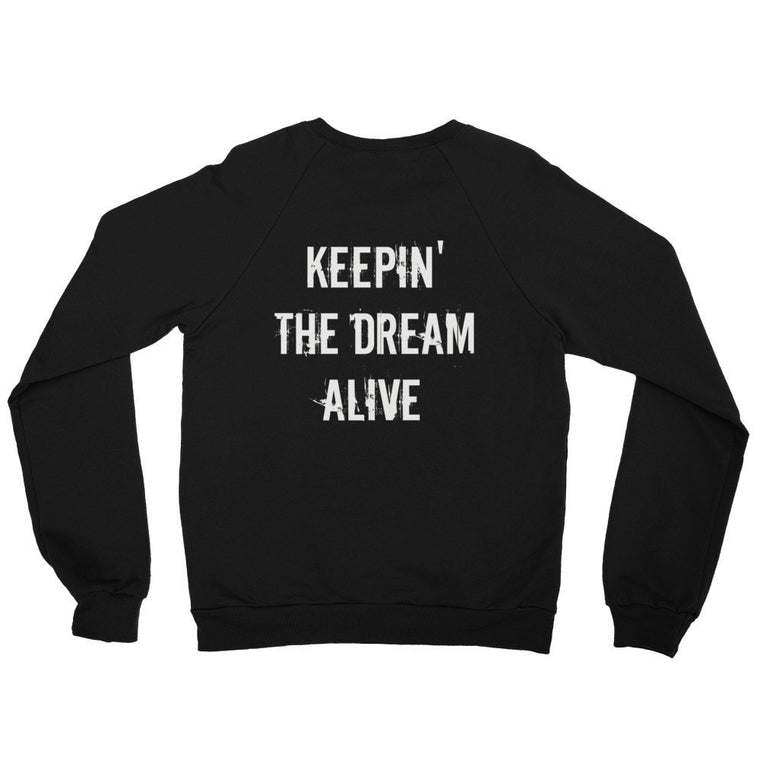 The Dream Black Raglan sweater (Back Print)