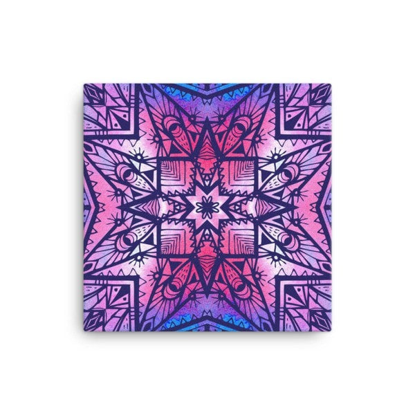 Purple geometric Canvas - Hutsylife - 1