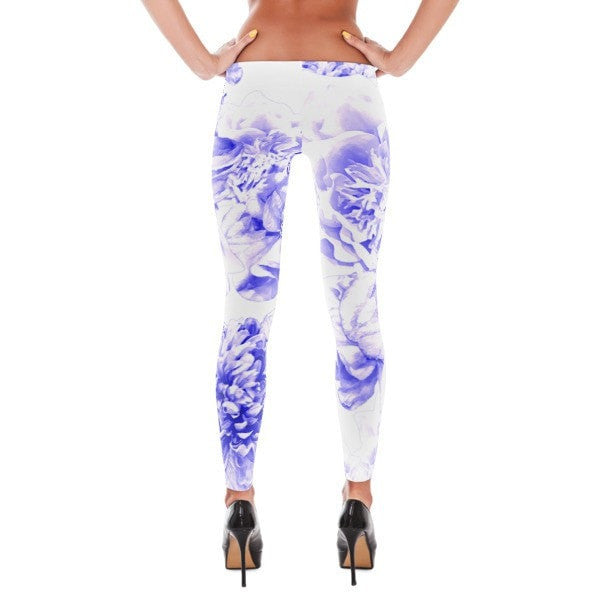 Indigo floral Leggings - Hutsylife - 2