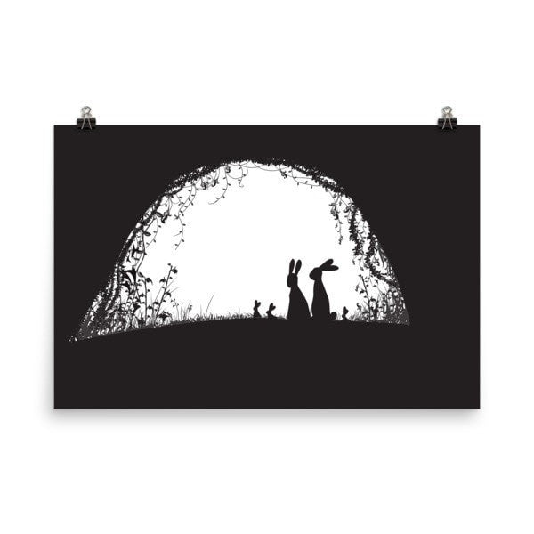 Rabbit hideout Poster - Hutsylife - 9