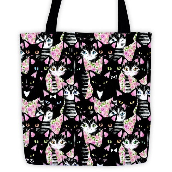 Cat collage Tote bag - Hutsylife