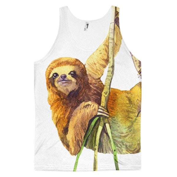 Watercolor sloth Classic fit men's tank top - Hutsylife