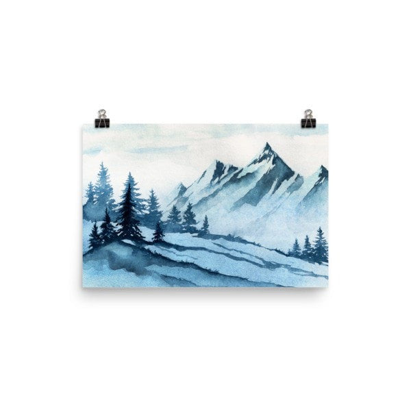Watercolor mountain Poster - Hutsylife - 7