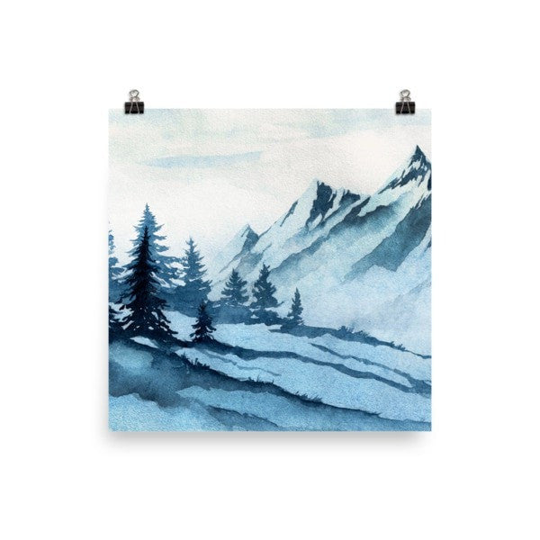 Watercolor mountain Poster - Hutsylife - 1