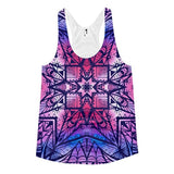 All over print - Purple geometric Women's racerback tank - Hutsylife - 1