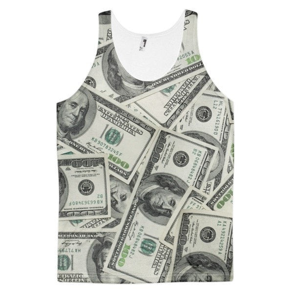 All over print - Dolla Dolla Classic fit men's tank top - Hutsylife - 1