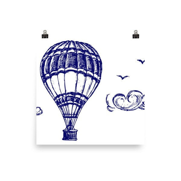 Hot air Poster - Hutsylife - 2