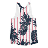 All over print - Pineapple stripes Women's Racerback Tank - Hutsylife - 2