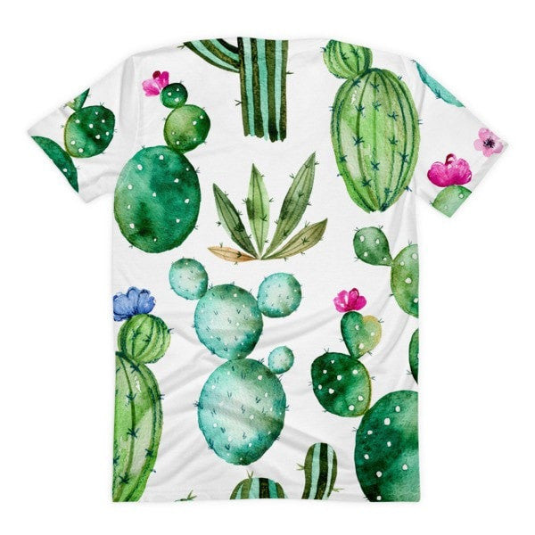 All over print - Thorny cactus Women's Sublimation T-Shirt - Hutsylife - 2