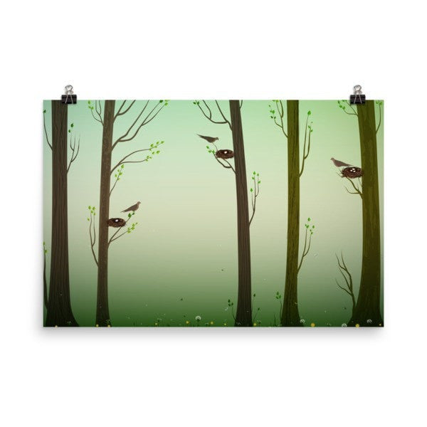 Spring forest Poster - Hutsylife - 9