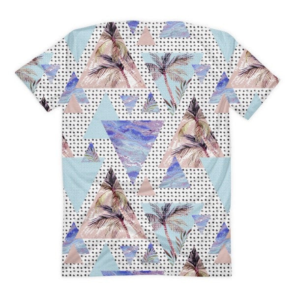 All over print - Summer geometric Women's sublimation t-shirt - Hutsylife - 2