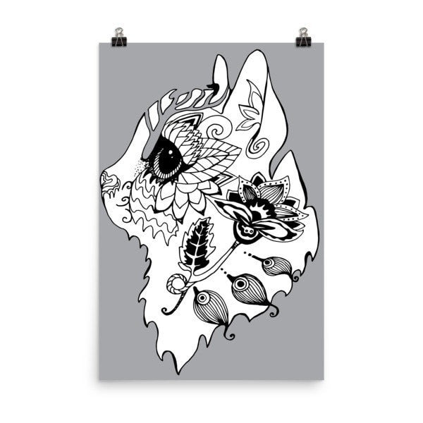 Flower cat Poster - Hutsylife - 8