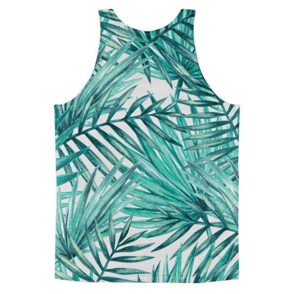 All over print- Tropical Hidden leaf Classic fit men's tank top - Hutsylife - 2