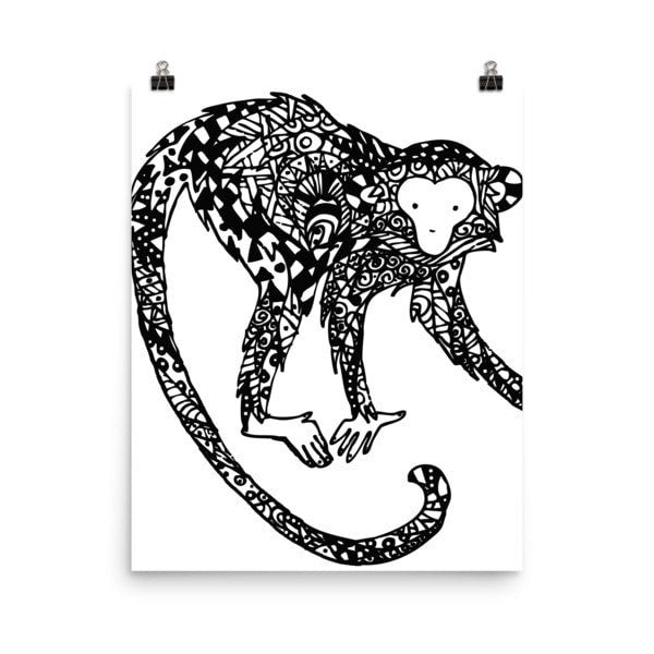 Curious monkey Poster - Hutsylife - 7