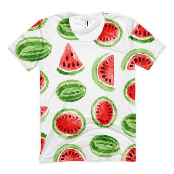 All over print - Watermelon Women's Sublimation T-Shirt - Hutsylife - 1