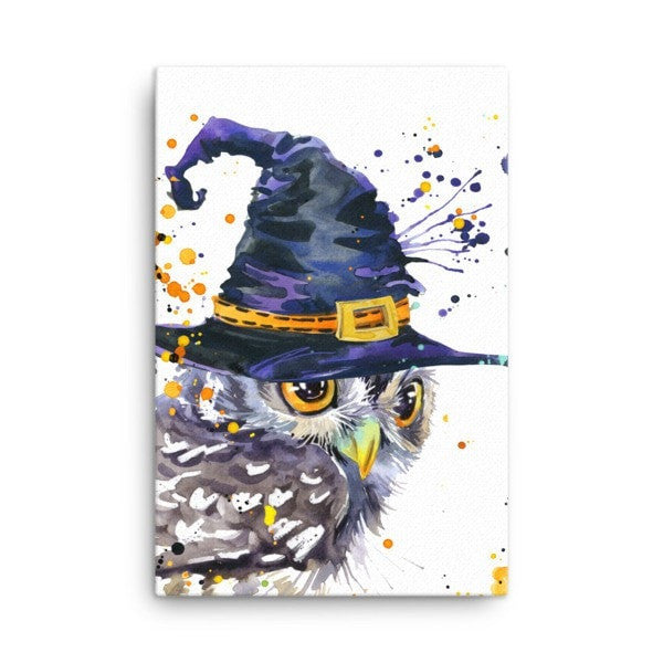 Owl wizard Canvas - Hutsylife - 4