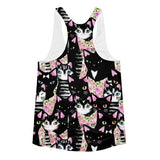 All over print - Cat collage Women's Racerback Tank - Hutsylife - 2
