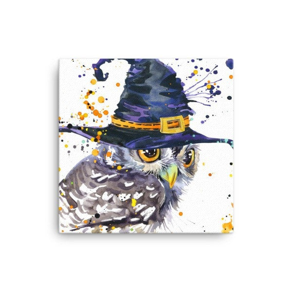 Owl wizard Canvas - Hutsylife - 1