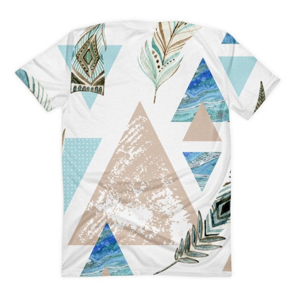 All over print - Geometric 80's grunge Women's sublimation t-shirt - Hutsylife - 2