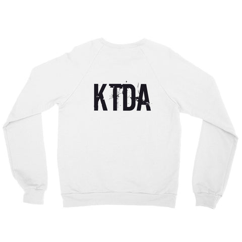 KTDA White Raglan sweater (Back Print)