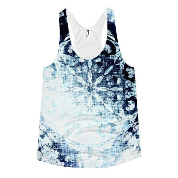 Cold blue Women's racerback tank - Hutsylife