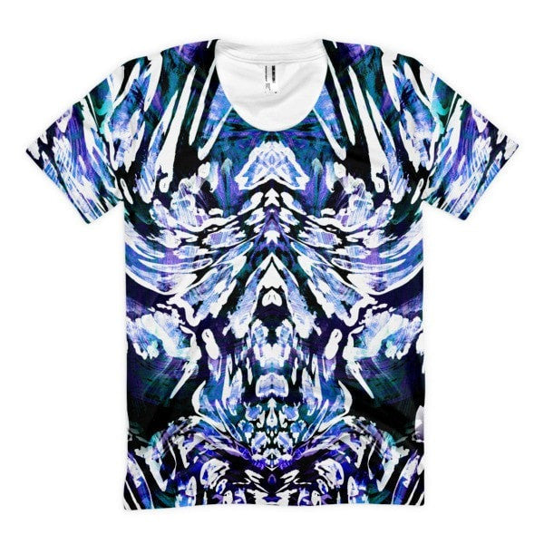 All over print - Leopard print Women's sublimation t-shirt - Hutsylife - 1