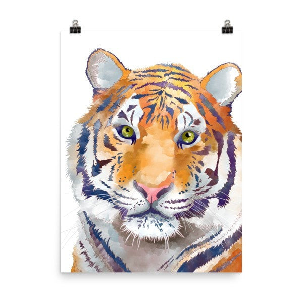 Watercolor Tiger Poster - Hutsylife - 6