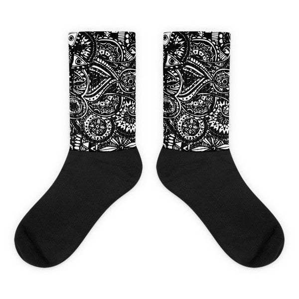 Black Veritas Black foot socks - Hutsylife