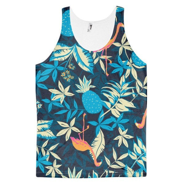 All over print - Paradise flamingo Classic fit men's tank top - Hutsylife - 1