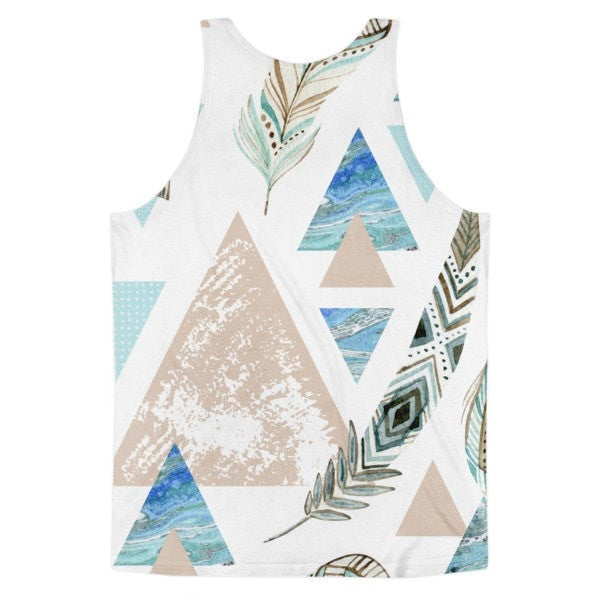 All over print - Geometric 80's grunge Classic fit men's tank top - Hutsylife - 2
