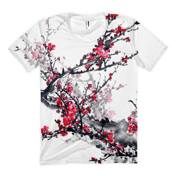 Plum blossom Women's Sublimation T-Shirt - Hutsylife